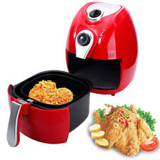 Electric Air Fryer w/ Temperature Control, Detachable Basket Multi Function Red