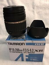 TAMRON high magnification zoom lens AF18-200mm F3.5-6.3 XR DiII for Nikon AF