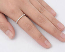 USA Seller Eternity Thin Band Rings Sterling Silver 925 Best Deal Jewelry Size 5