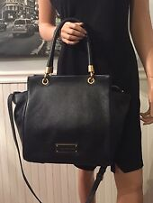 NWT Marc By Marc Jacobs Bentley Leather Winged Double Shoulder Bag Black $498