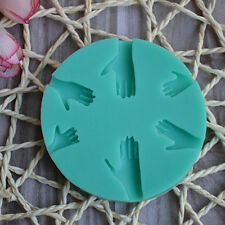 Fashion  Human Hand Fondant Cake Decorating Silicone Mould Fimo DIY Mold Tools W