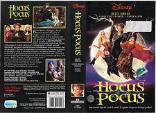 HOCUS POCUS (1993) vhs ex noleggio