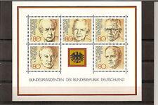 Deutschland 1982, Block 18, Bundespräsidenten Scheel, Heuß postfrisch (mnh)