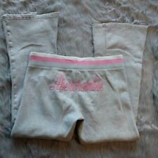 "Abercrombie Women's ""Vintage Varsity"" Sweatpants logo Size L Pink and Gray"