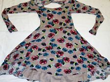 TOBI Ladies Dress Size S Small Pretty Flower Print Sexy Back Opening Long Sleeve