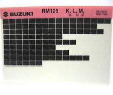 Suzuki RM125 1989 - 1991 Parts Microfiche s183