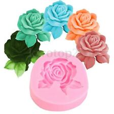 3D Rose Soap Chocolate Candle Mold Silicone Craft Clay Mould Resin Silicone New