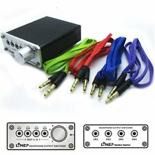 4-WAY AUDIO INPUT 4 CH HEADPHONE OUTPUT SIGNAL SWITCHER SWITCH SELECTOR SPLITTER