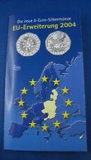 5 Euro Münze Österreich Silber OVP  EU Erweiterung 2004