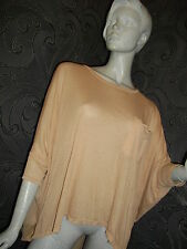 * PRIMARK * PINKY BEIGE DRAPEY T-SHIRT ONE SIZE NEXT DAY DELIVERY
