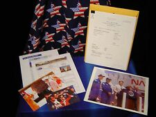 Rare PRESIDENT RONALD REAGAN Papers, Secret Service, SPACE SHUTTLE Columbia RARE
