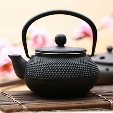 300ml Black Hobnail Tetsubin Kettle Cast Iron Tea pot Infuser Filter Teapot