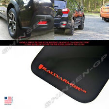 RALLY ARMOR UR MUD FLAPS FOR 2013-2016 SUBARU XV CROSSTREK BLACK / RED LOGO