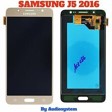 DISPLAY LCD+TOUCH SCREEN ORIGINALE per SAMSUNG GALAXY J5 2016 SM-J510F GOLD ORO