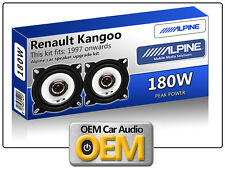 "Renault Kangoo Express Front Dash speakers Alpine 10cm 4"" car speaker kit 180W"