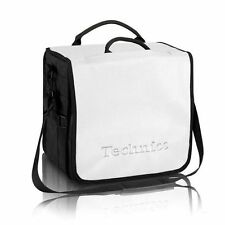 Technics Backpack 12 Inch Vinyl Record Bag (white with silver logo)