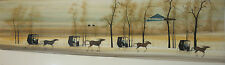 P. BUCKLEY MOSS-Large Original Signed Watercolor- Amish Horse & Buggy