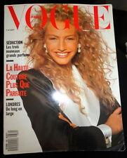 Vtg Vogue Paris 1988 Linda Evangelista Lucie de la Falaise Carre Otis Iman Bruni