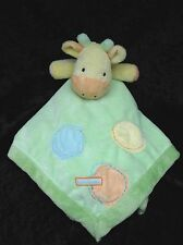 Carters Just One Year I Love Mommy Giraffe Green Yellow Lovey Security Blanket