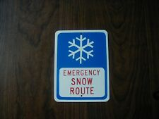 METAL  MINI EMERGENCY SNOW ROUTE SIGNS   MINIATURE