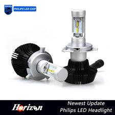 6500K 16000LM Fanless Philips LED Headlight Kit High/Low Beam Bulbs H4 9003 HB2
