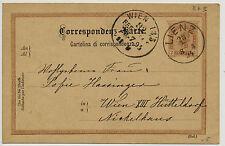 1894 2Kr. Korr-Karte von LIENZ (Tirol) nach WIEN. Schön!