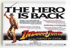 Indiana Jones Temple of Doom FRIDGE MAGNET (2 x 3 inches) quad movie poster