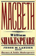 Macbeth by William Shakespeare (Barnes and Noble Shakespeare) (2007, PB) HH60