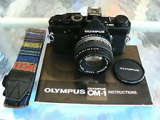 OLYMPUS OM-1 BLACK CAMERA & 50MM F1.8 *35MM MANUAL SLR CAMERA *TESTED BARGAIN