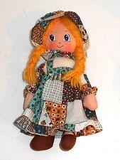Vintage 1980's Burbank Jouets-Holly Hobbie Holly Hobbie - 12 inch Ragdoll (GT1)