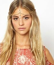 Fashion Boho Women Crown Hair Cuff Chain Gold Tassels Headband Headpiece Party