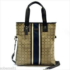 Coach Signature Jacquard Stripe Foldover Crossbody Tote Bag F70773