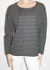 NOW Brand Black Silver Zip Sides Pullover Top Size 18-XXL BNWT #TC23