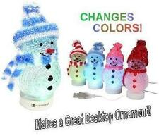 iEssentials USB Powered Snowman - multi color changing LED's - MERRY CHRISTMAS
