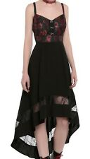 ROYAL BONES TRIPP GOTHIC VAMP BROCADE AND LACE SUMMER DRESS NWT SZ SM