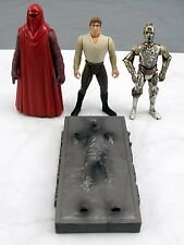 Star Wars Kenner 3.75'' C-3PO Han Solo In Carbonite & Emperor's Royal Guard 1997