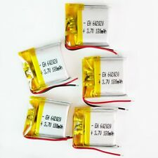 5 pcs 180mAh Lipo Polymer Battery 3.7V cells For MP3 bluetooth headphone 602020