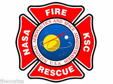 "NASA FIRE RESCUE 4"" HELMET TOOLBOX CAR BUMPER STICKER DECAL USA MADE"