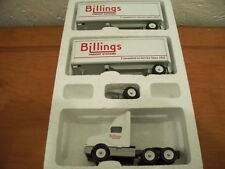 BILLINGS FREIGHT SYSTEMS DOUBLES WINROSS TRACTOR TRAILER DIECAST