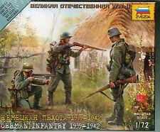 Zvezda 1/72 Figures German Infantry 1939 - 1942 Z6105