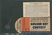 1940 NY WORLDS FAIR HERSHEYS ICE CREAM CAR A DAY GIVEAWAY PLYMOUTH FORD SEE INFO