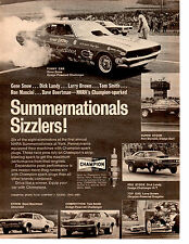 1971 DODGE CHALLENGER FUNNY CAR DRAG RACING / GENE SNOW ~ ORIGINAL CHAMPION AD
