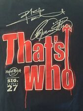 Hard Rock Cafe Signature Series 27 The Who T Shirt L Blue Hollywood FL Sig