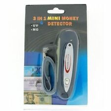 Portable UV Mg Counterfeit Fake Dollar Euro € $ Bank Bill Note Money Detector PO