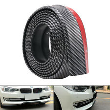 Universal 8ft/2.5M Carbon Fiber Front Bumper Lip Splitter Chin Spoiler Body Trim