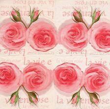 2 Serviettes en papier Bistro La vie en Rose Decoupage Paper Napkins rosy Life