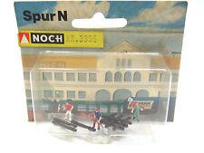 Trabajador de la construcción diorama con tableros colocados y herramientas, aún, pista N, 1:160,ovp,3335