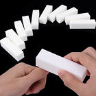 2PCS White Nail Art Buffer Buffing Sanding Files Block Pedicure Manicure Care CN