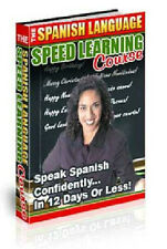 Speed Spanish language Course Books Learn Spanish on DISC DVD