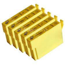 5 kompatible Tintenpatronen gelb für den Drucker Epson SX130
